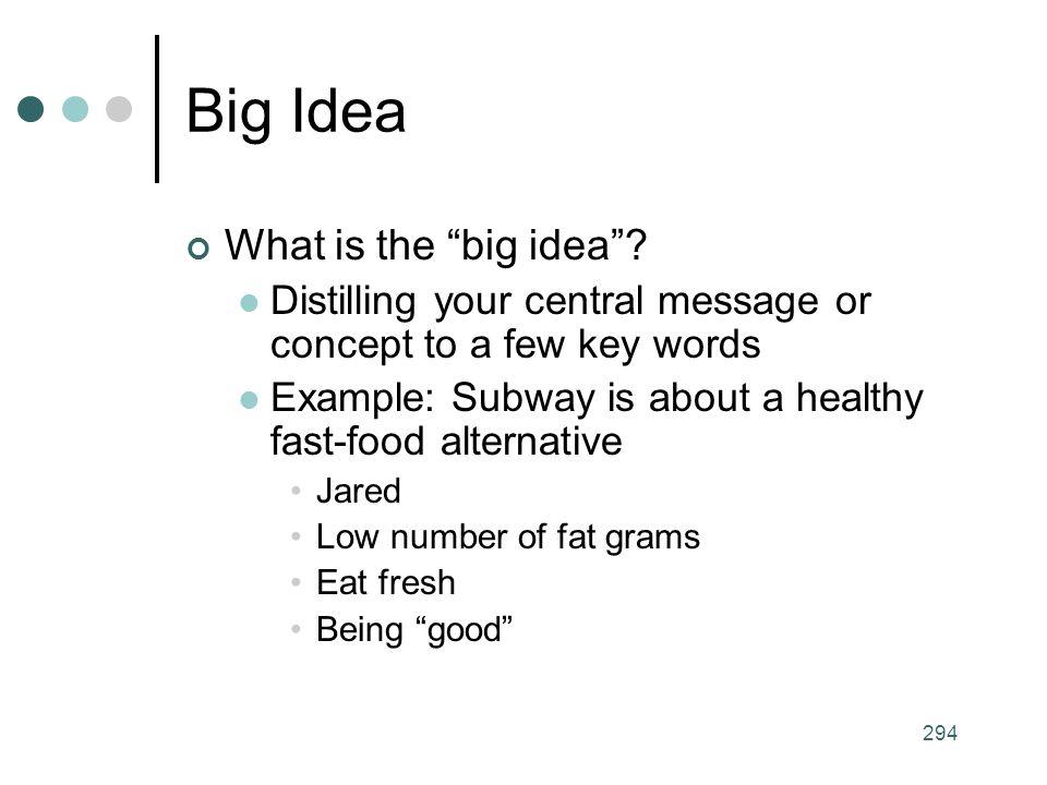 294 Big Idea What is the big idea .