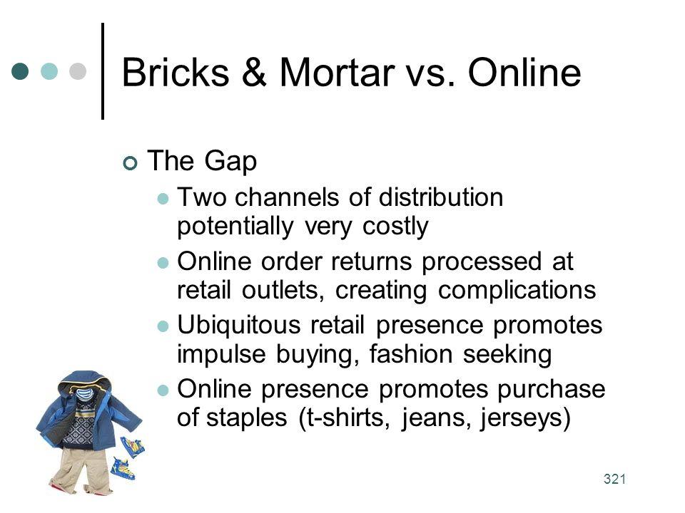321 Bricks & Mortar vs.