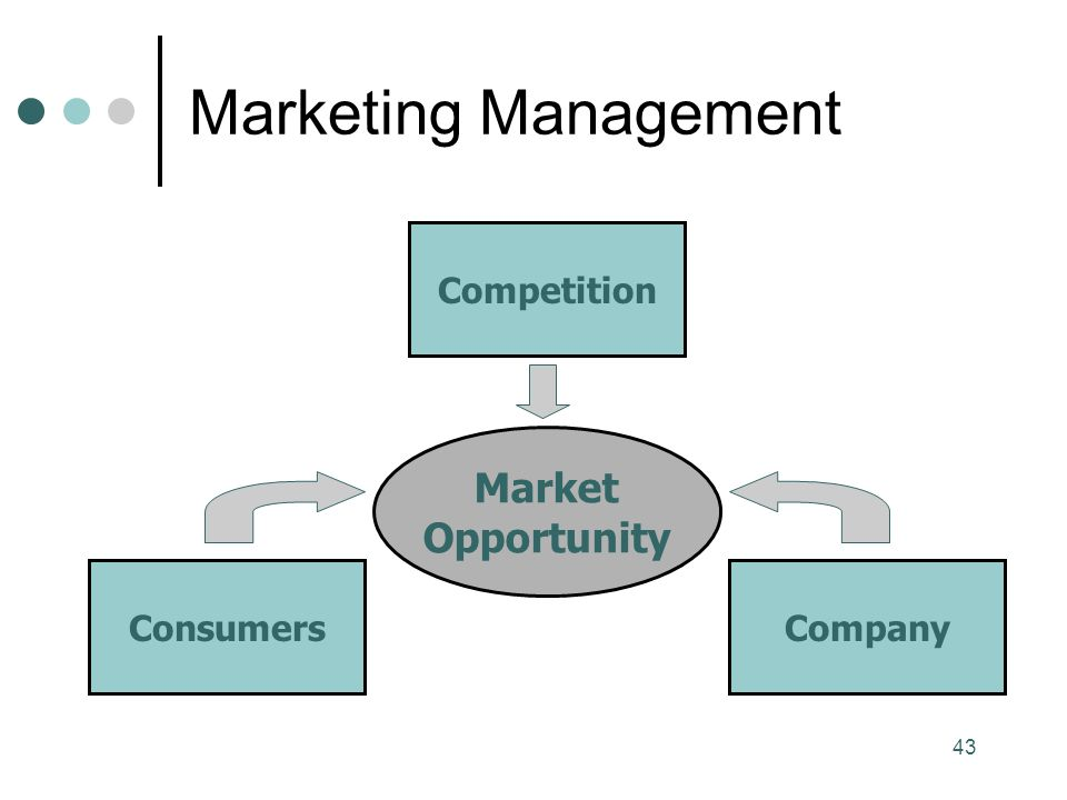 43 Marketing Management Market Opportunity Consumers Competition Company