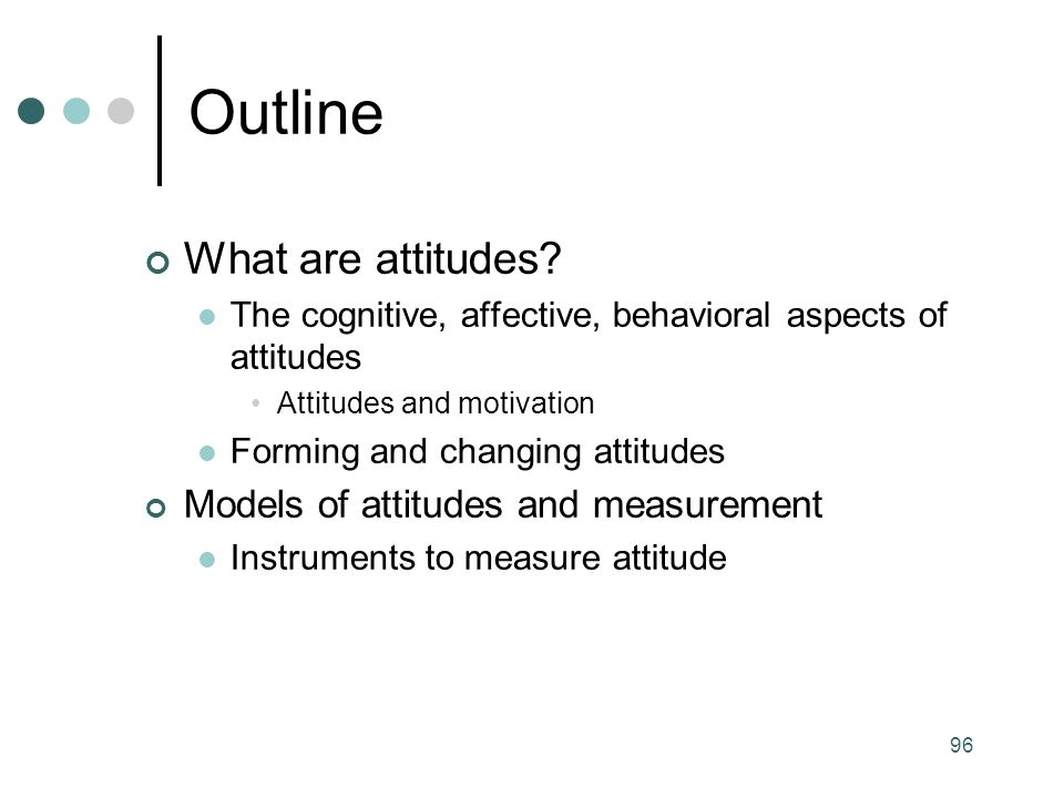 96 What are attitudes.