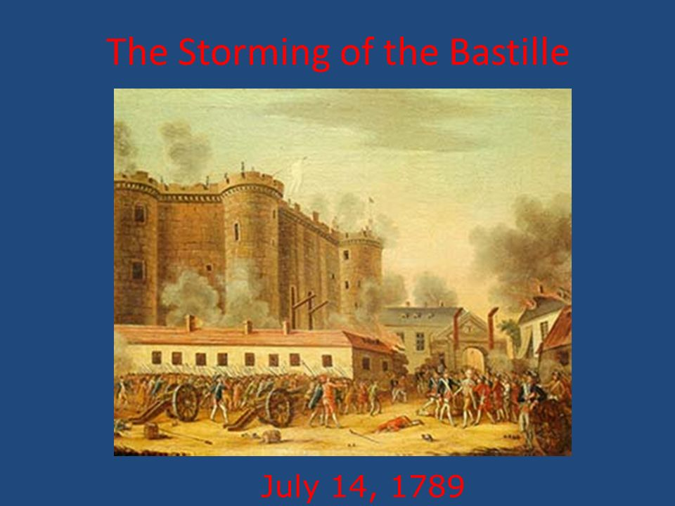 The Storming of the Bastille July 14, 1789