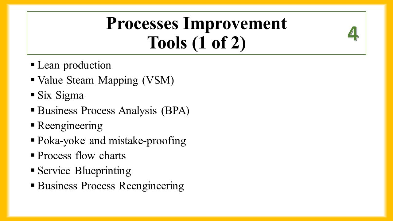 Chapter 4 business processes 1 define process ppt download 8 processes improvement biocorpaavc