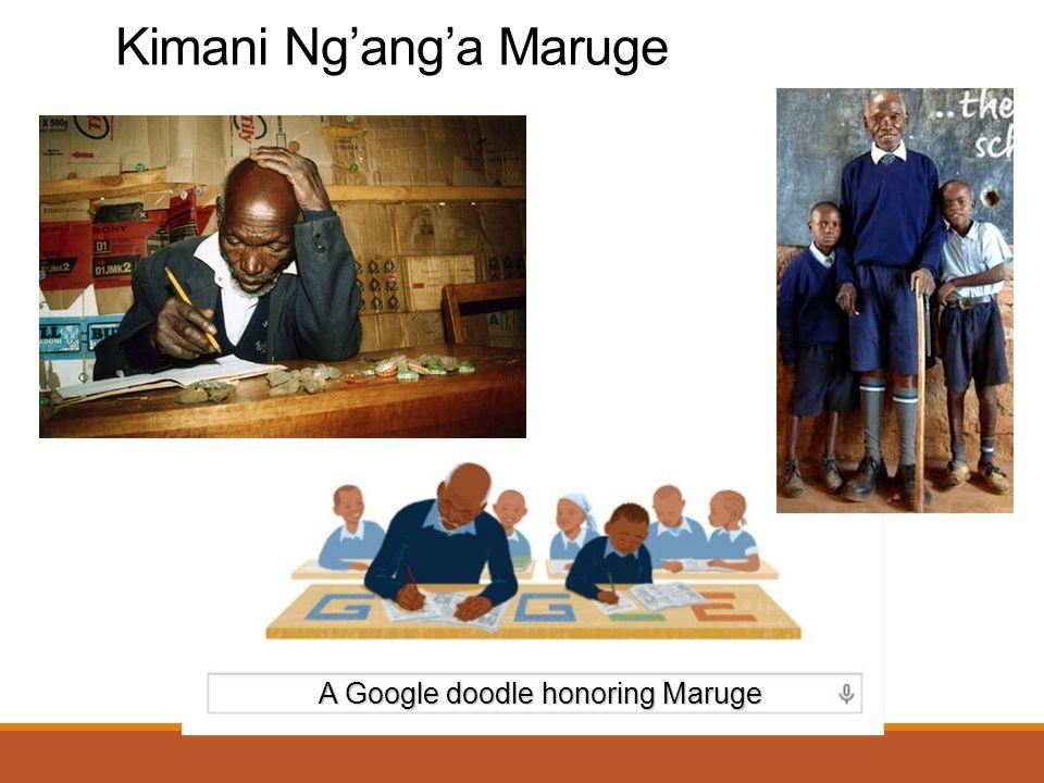 Kimani Ng'ang'a Maruge A Google doodle honoring Maruge