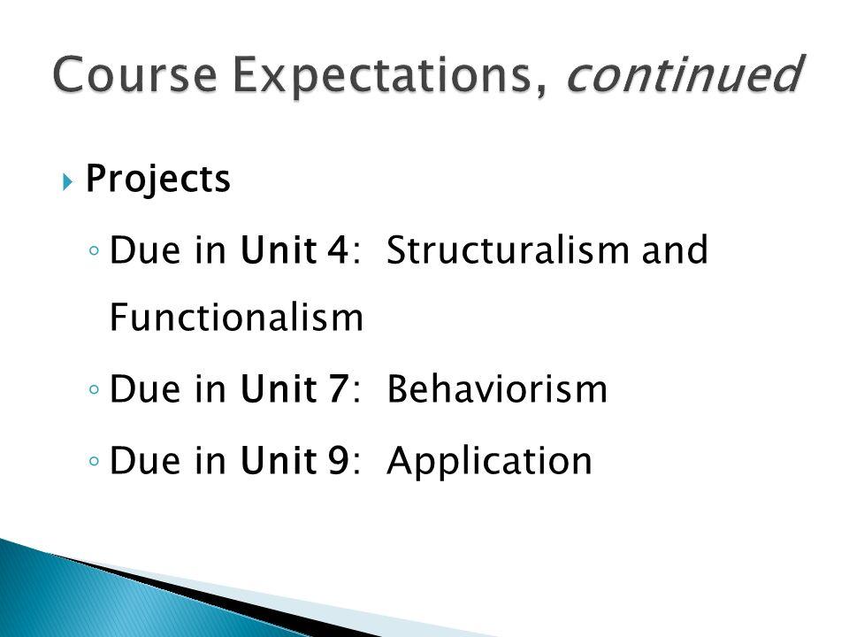 course expectation