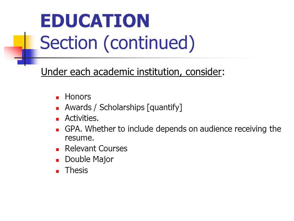 Delightful 8 EDUCATION ...