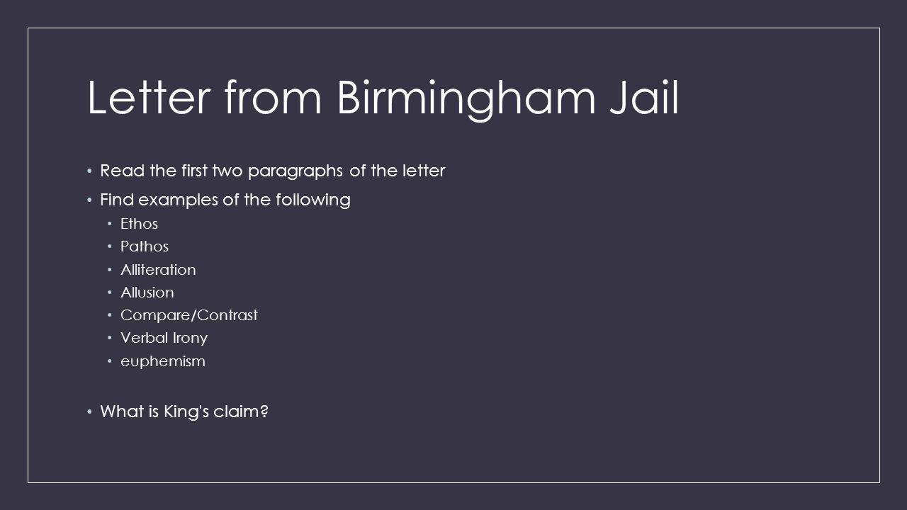 C Letter From Birmingham Jail October 6 2015 Tswbat Analyze Text