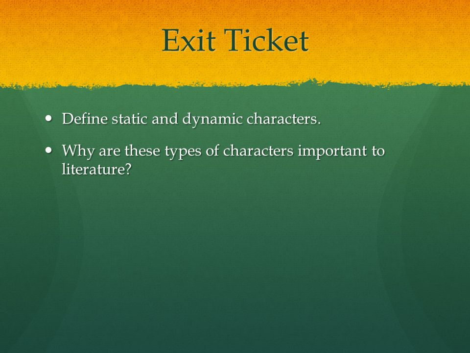 an introduction to the literary analysis of static and dynamic characters These changes that make a character dynamic are often implied rather than stated outright, so careful analysis is required to discover them dynamic characters throughout literature harry potter in harry potter and the chamber of secrets one of the main conflicts in harry potter and the chamber of secrets is harry's inner conflict.