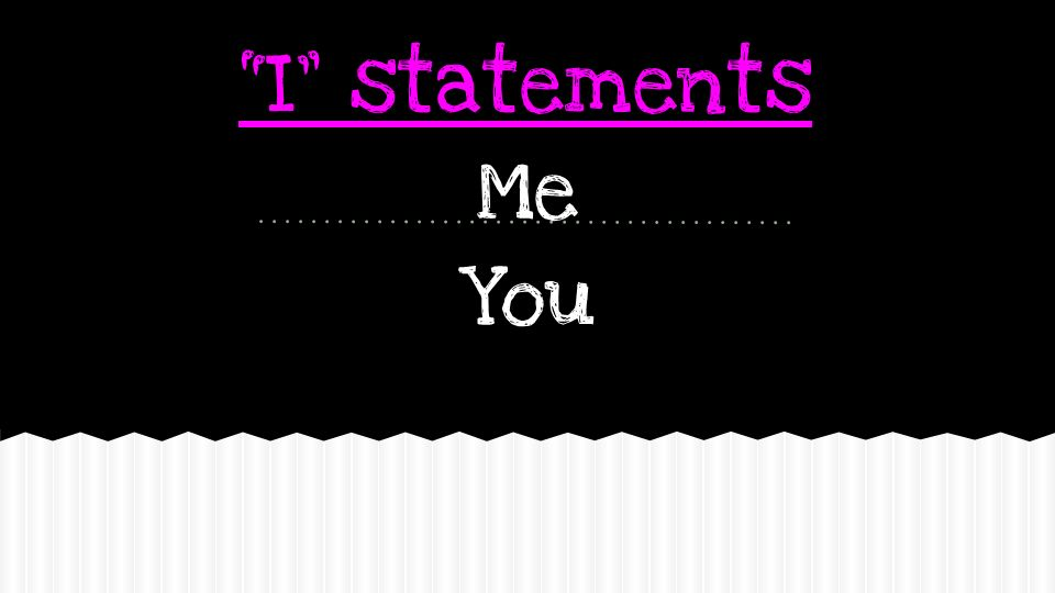 I statements Me You