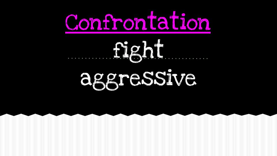 Confrontation fight aggressive