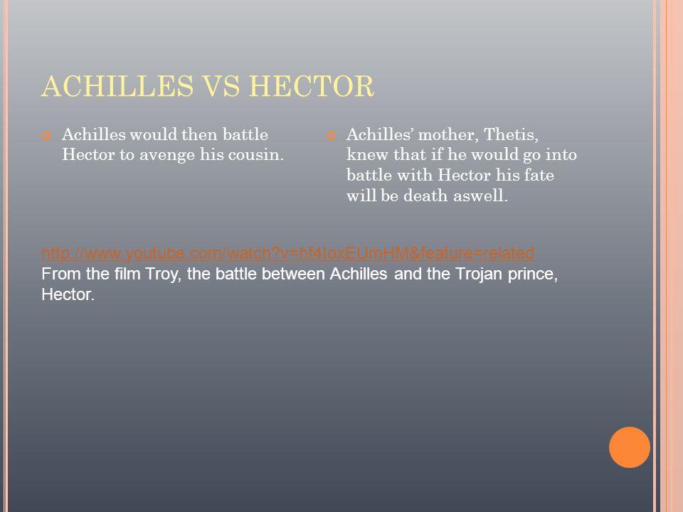 troy achilles vs hector