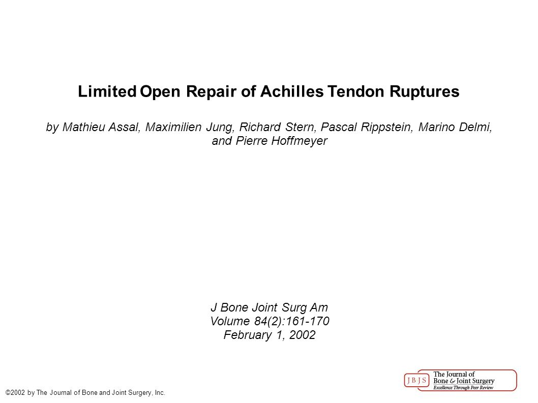 Achilles tendon rupture physical therapy - 1 Limited Open Repair Of Achilles Tendon