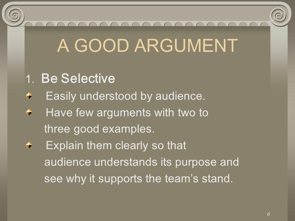 A good argument