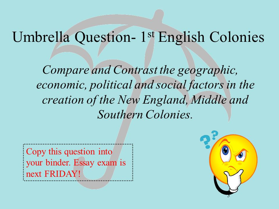 colony compare contrast essay northern southern