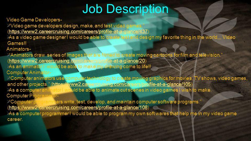 3 job description
