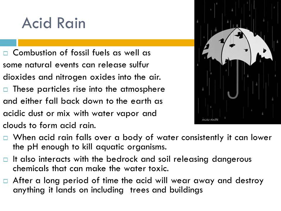 HUMAN IMPACT ON THE ENVIRONMENT Global Warming and Acid Rain ...