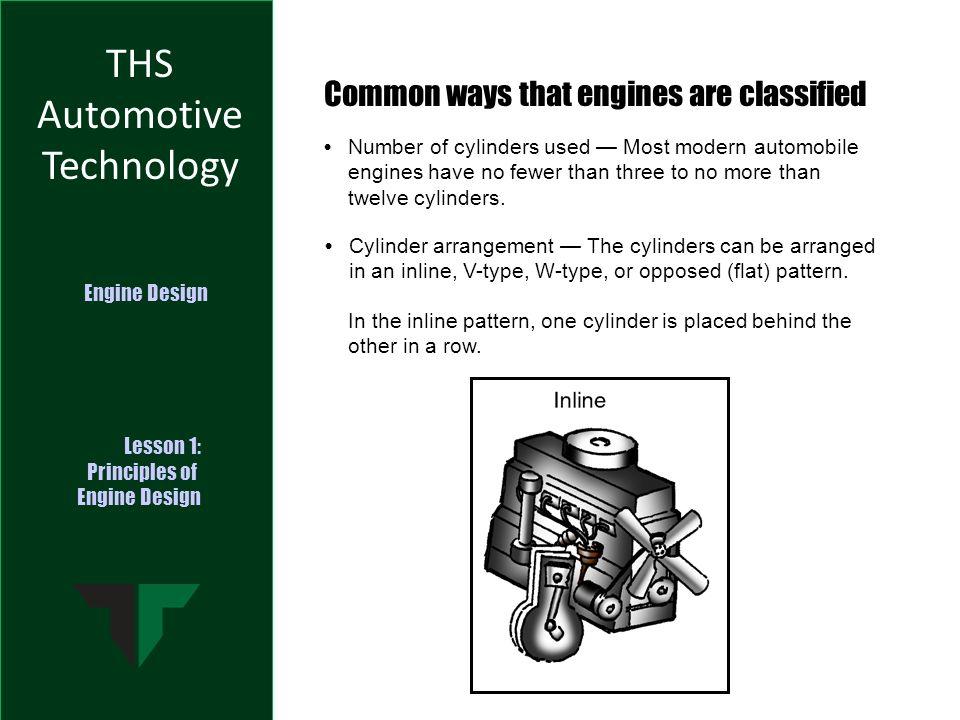 THS Automotive Technology Engine Design Lesson 1: Principles of ...