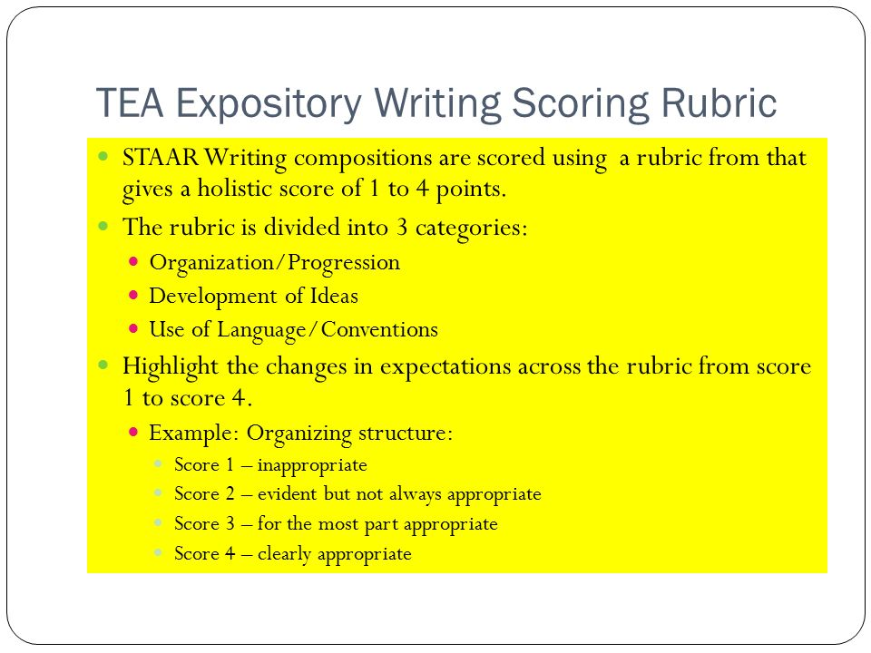 rubrics for expository writing