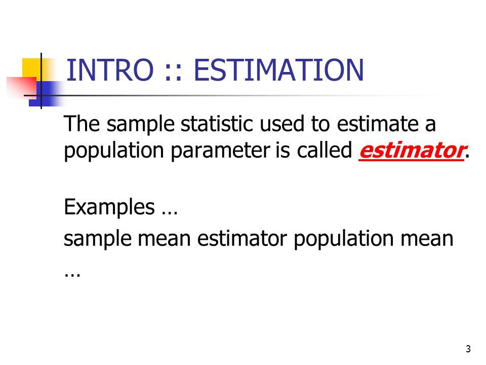 examples of estimate