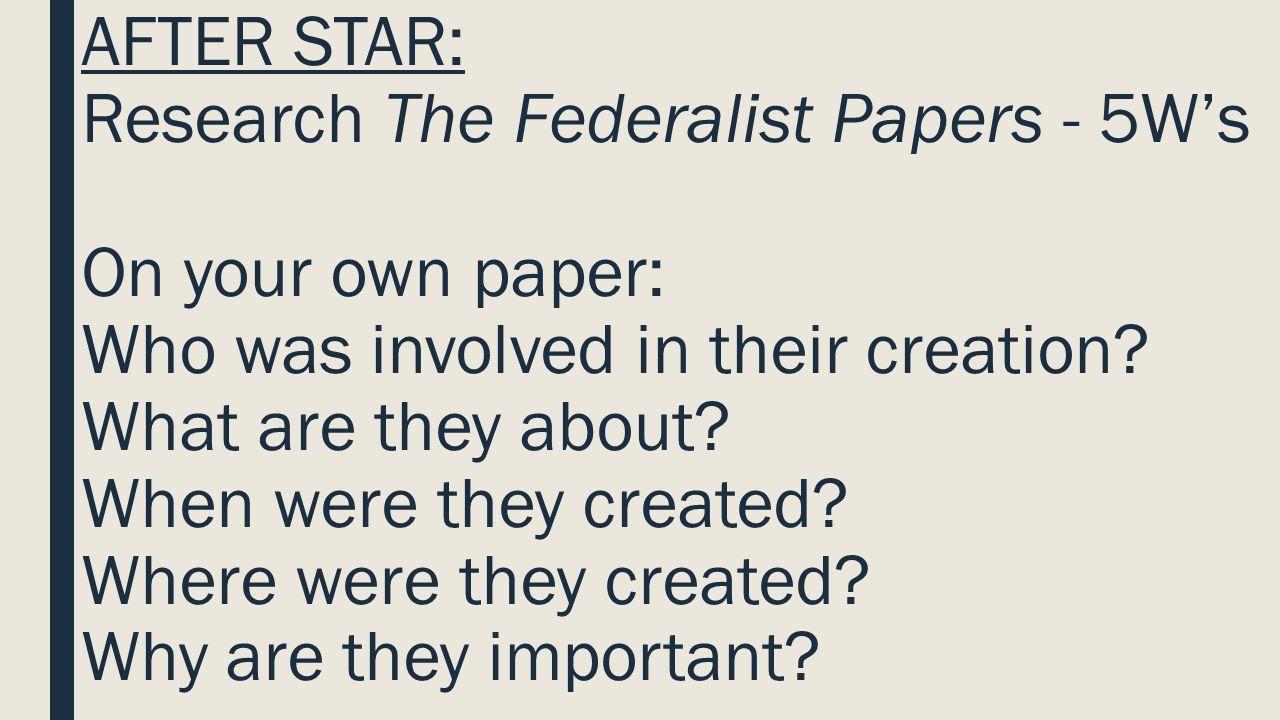 Federalism Vs Anti Federalist Essay
