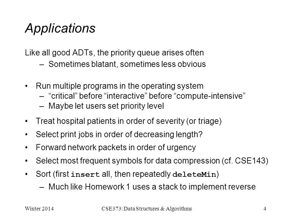Cse373 Data Structures Algorithms Lecture 8 Priority Queues