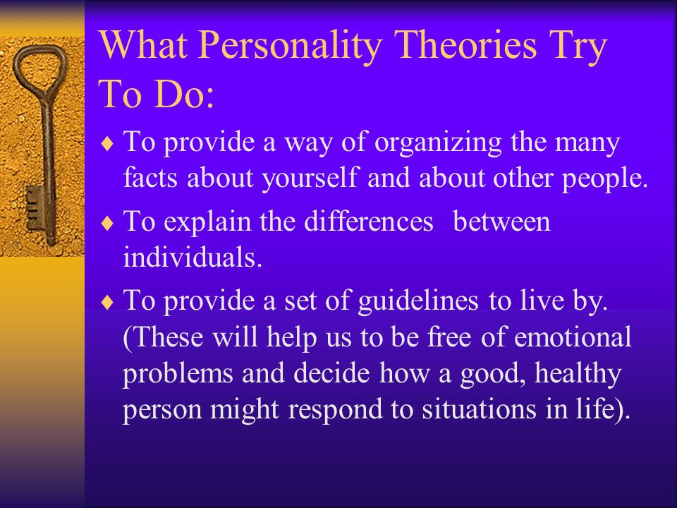 what personality theory best explains you