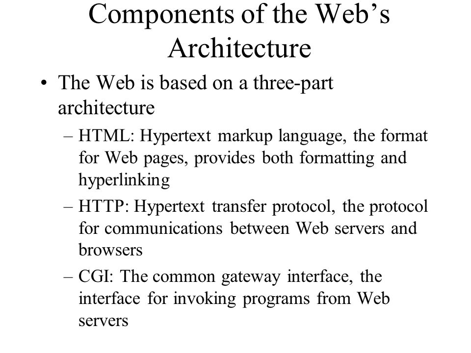 Electronic Commerce Architecture Local or company- specific data WWW browser Browser extensions Information retrieval Data and transaction management Secure messaging Digital library of document/data servers Third-party information processing tools/services Electronic payment servers Client browser WWW server functions Third-Party Services