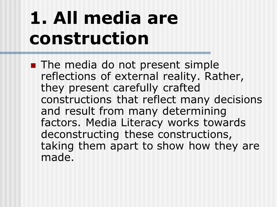 8 KEY MEDIA CONCEPTS What is mass media? Mass: a considerable ...