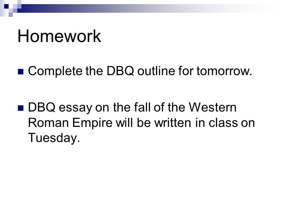homework complete the dbq outline for tomorrow dbq essay on the  homework complete the dbq outline for tomorrow