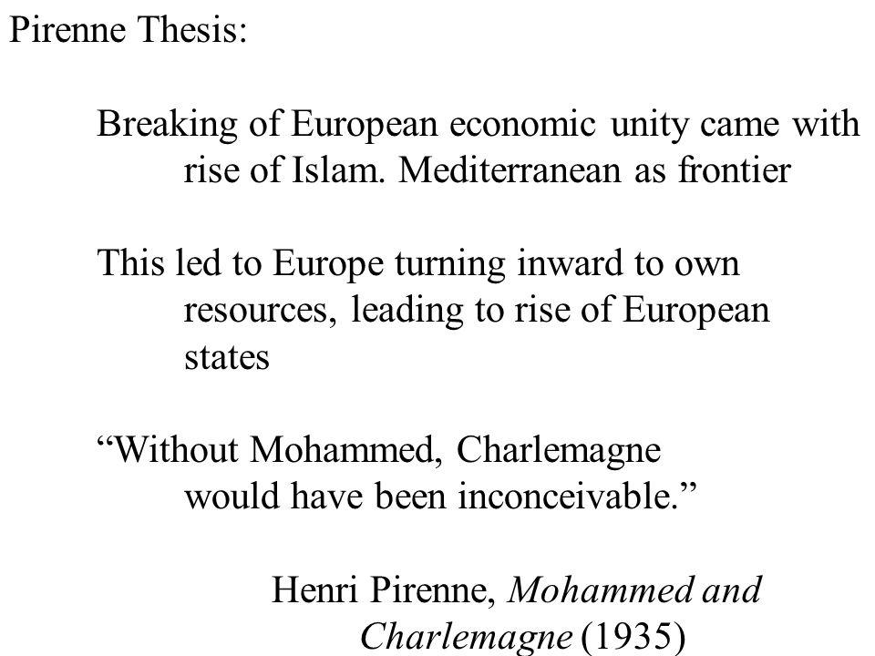 pirenne thesis analysis