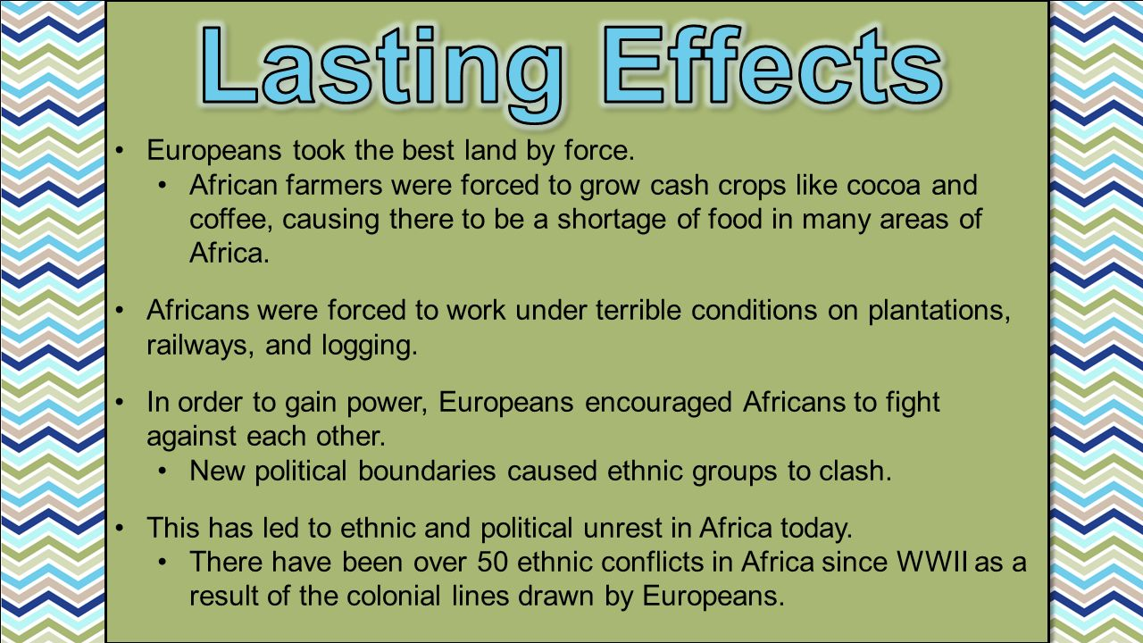 Europeans took the best land by force.