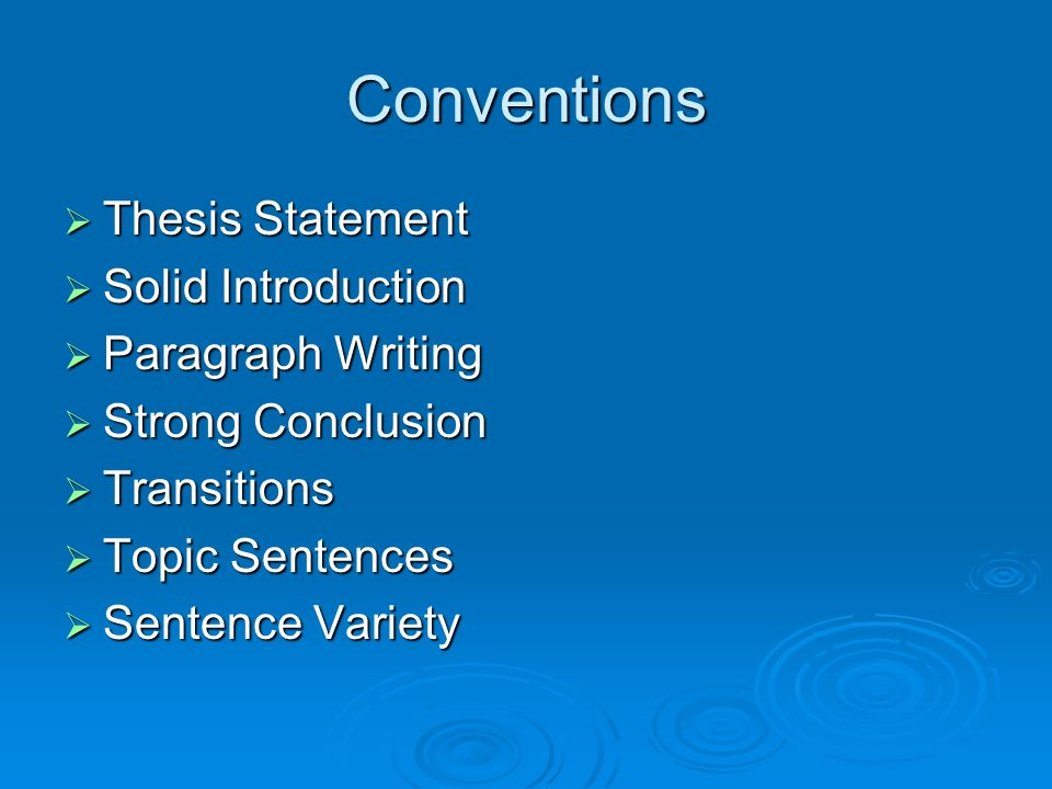 introduction for thesis writing