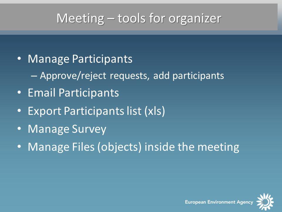 SESSION 6 Content types Survey, Meeting, Talkback Consultation ...