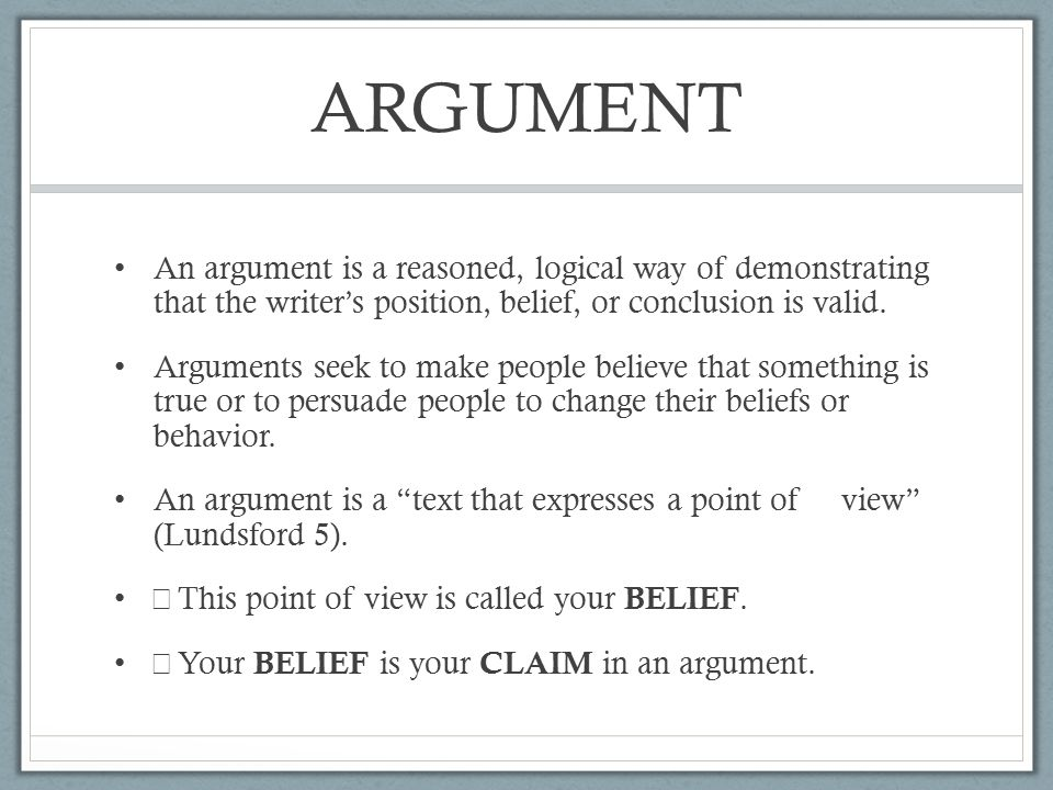 an analysis of belief