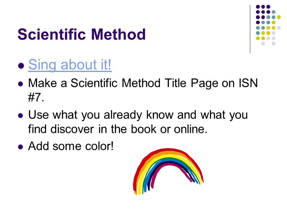 scientific title page