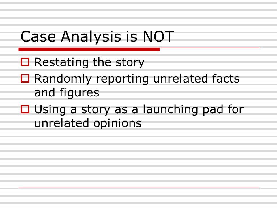 Parts of a case study
