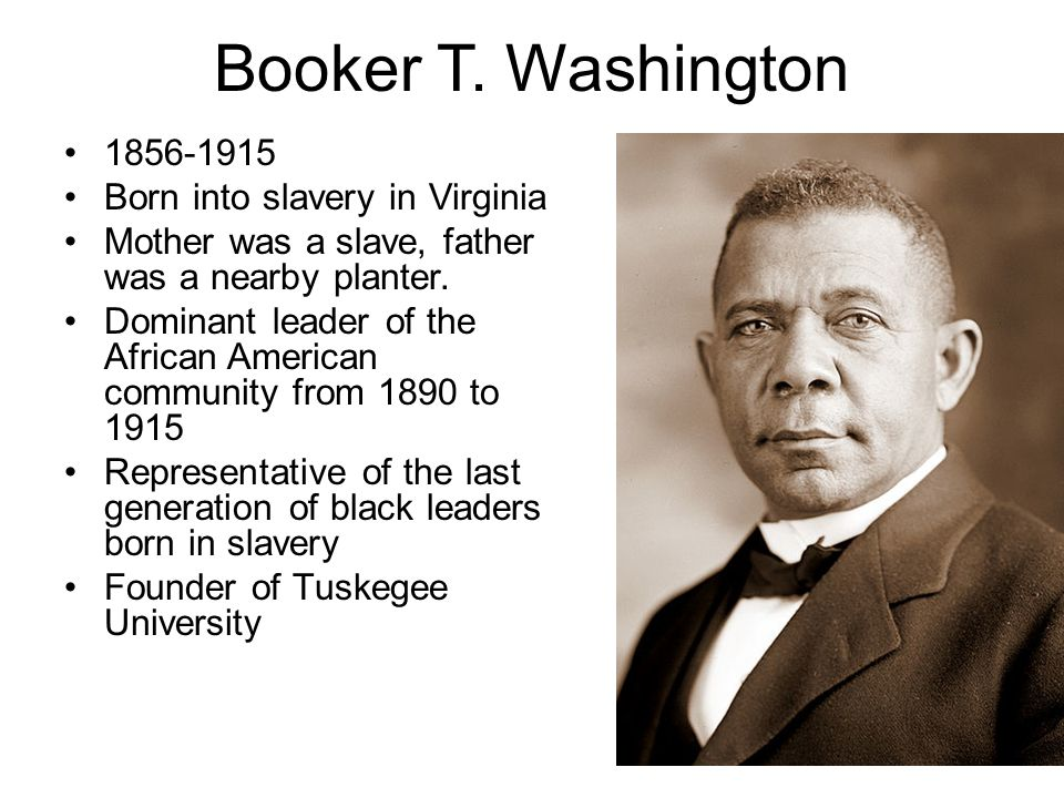 a narrative of the experiences of booker washington into slavery