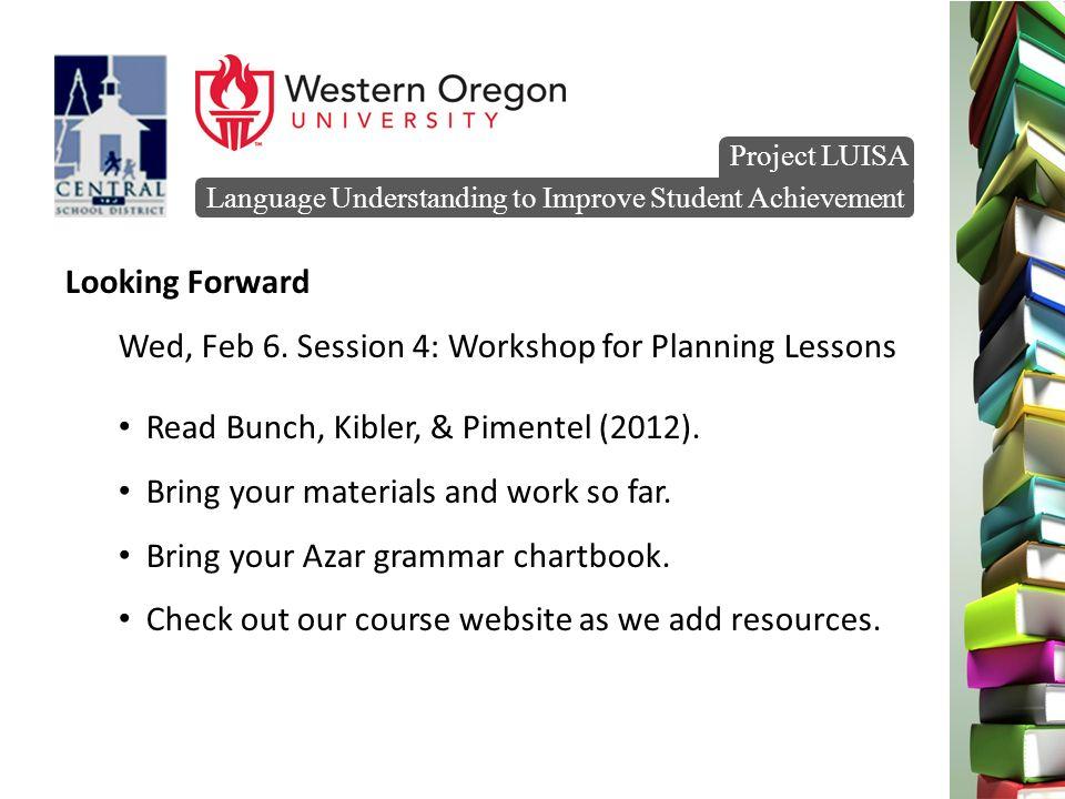 Language Understanding to Improve Student Achievement Project LUISA ...
