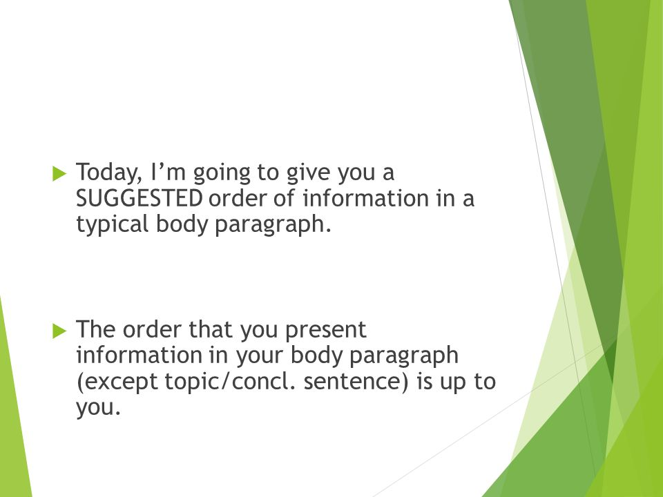 order of an essay