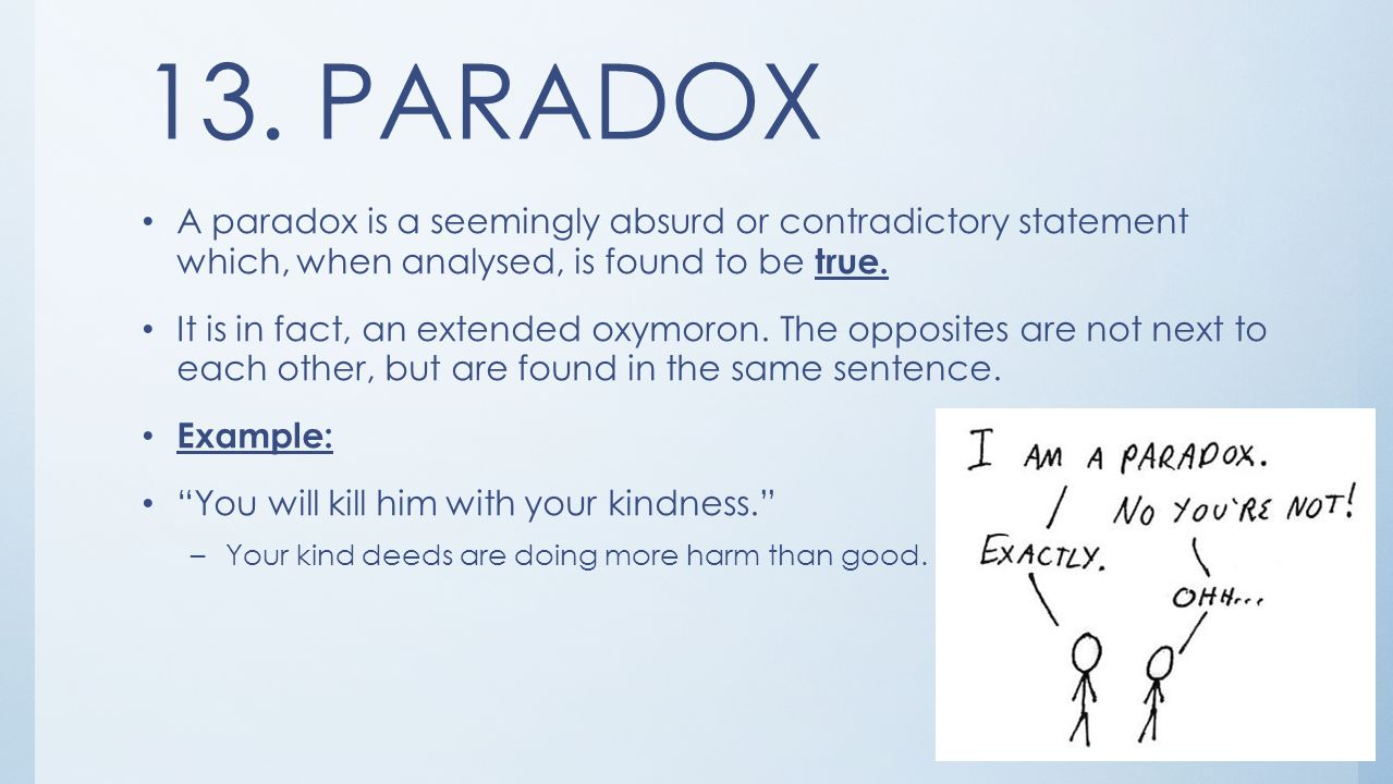 Paradox Figure Of Speech Examples Sentences Gallery Example Cover