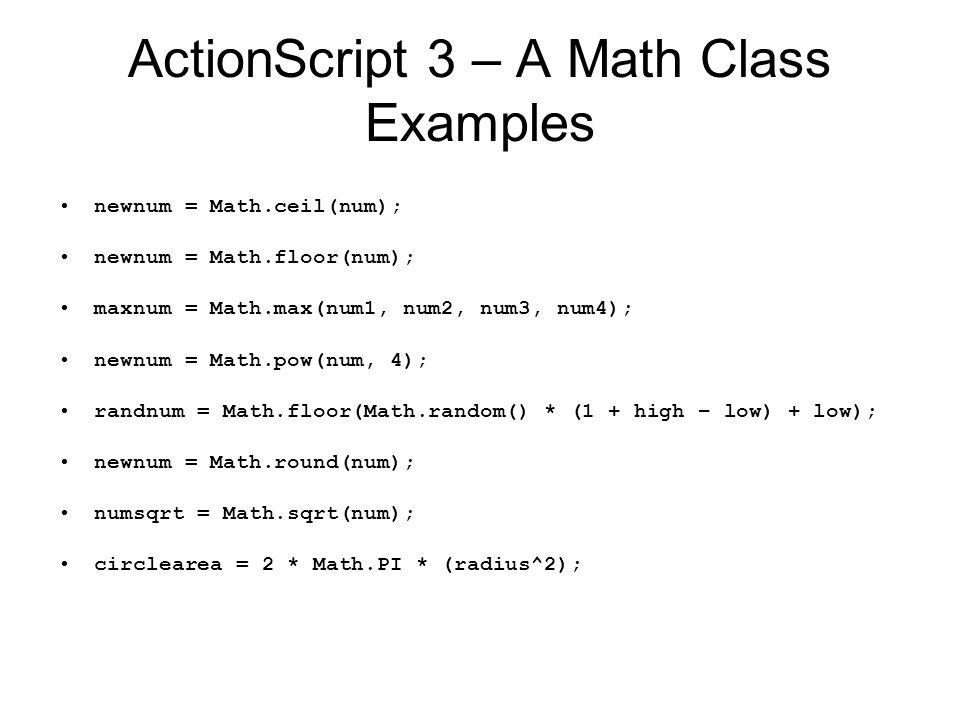 6 ActionScript ...