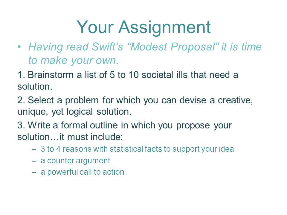A Modest Proposal By Jonathan Swift Originallong Title A Modest