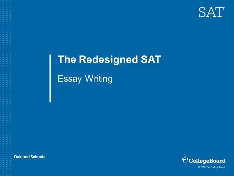 college board sat essay examples
