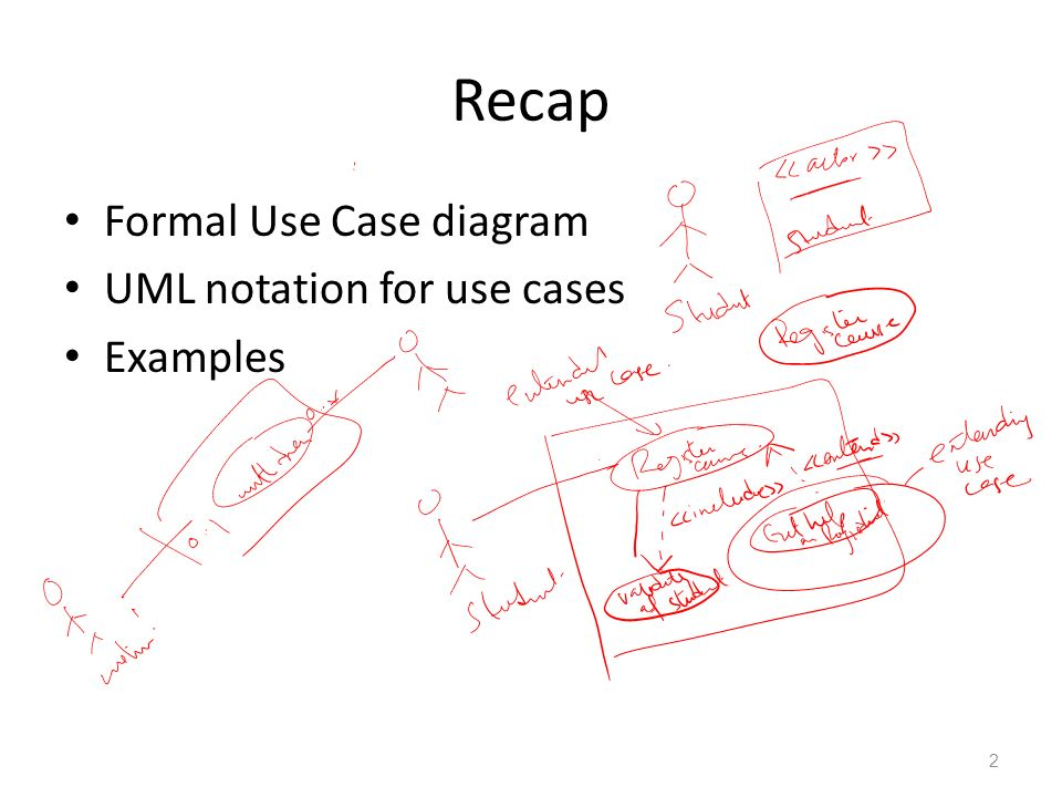 Uml activity diagram 1 recap formal use case diagram uml notation 2 recap formal use case diagram uml notation for use cases examples 2 ccuart Images