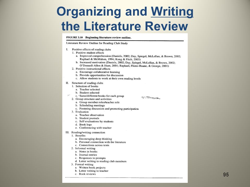 WRITING A LITERATURE REVIEW - UNT Dallas