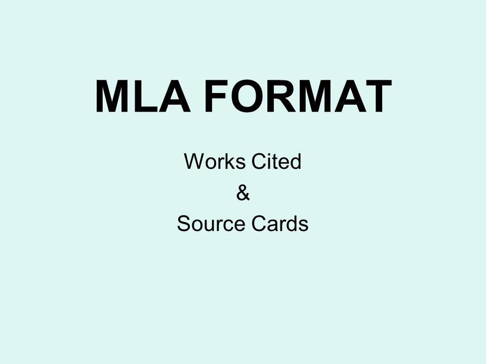 mla format for works cited website Mla citation components authors: in mla format, the author is generally the first item in a citation (unless the source does not have an author) the author's name is followed by a period if the source has one author, place the last name first, add a comma, and then the first name.
