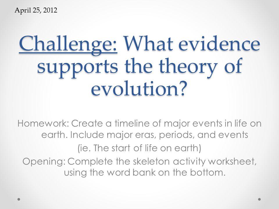 Evolution Pretest Prepare To Take A Pretest Please Put Everything
