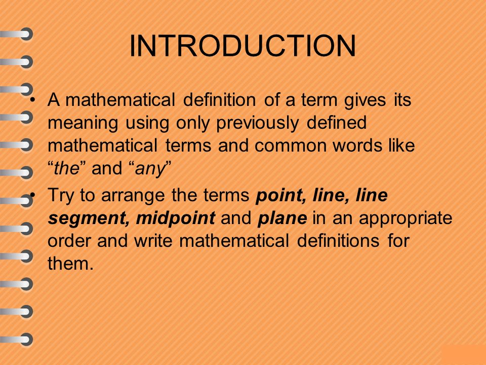 definition of point in mathematical terms Mathematical thinking tools the origin of a coordinate system is the point (0, 0) p parabola a term used to help in understanding the study of algebraic.