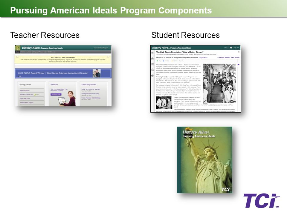 Welcome history alive pursuing american ideals ppt download 6 pursuing american ideals program components teacher resourcesstudent resources publicscrutiny