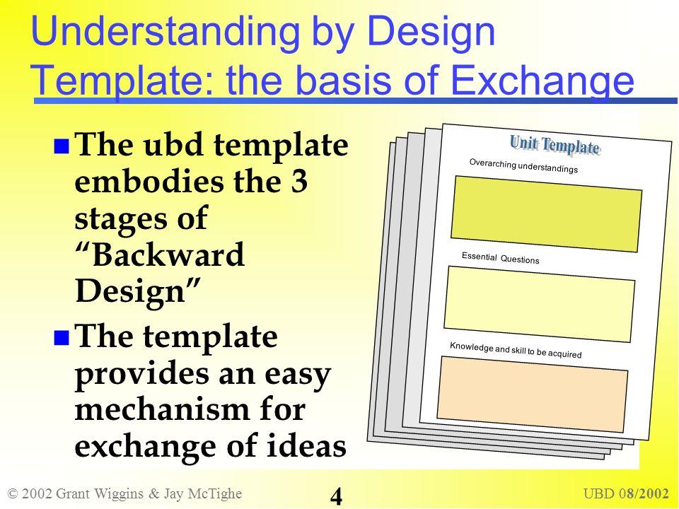 2002 Grant Wiggins & Jay Mctighe Ubd 08/ Understanding By Design