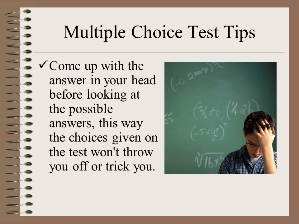 multiple choice tests Worksheet for writing better objective tests workshop catl colloquium, november 25, 2009 multiple‐choice‐test test instructions use the workshop handout to identify flaws in the test items below.